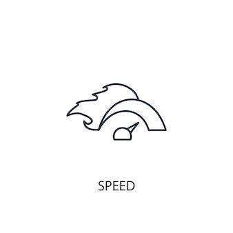 Speed concept line icon. simple element illustration. speed concept outline symbol design. can be used for web and mobile ui/ux