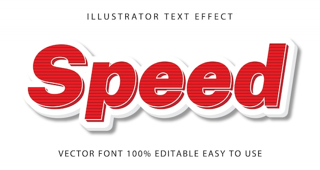 Speed   editable text effect