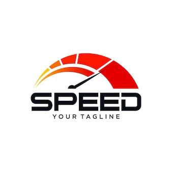 Speed gauge logo
