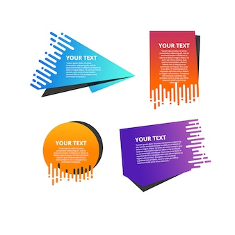 Speed gradient banner set