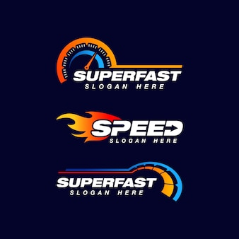 Speed indicator vector logo design