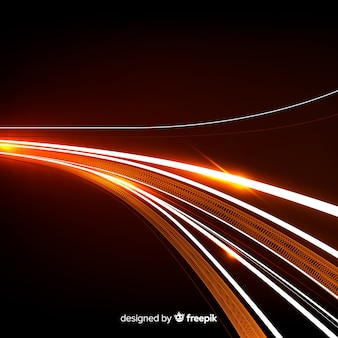 Speed light trail background