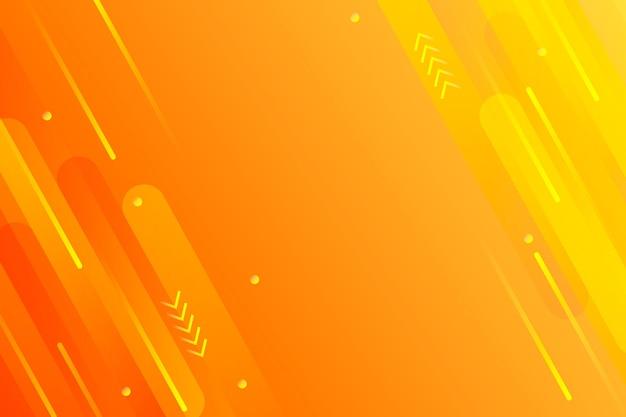 スピードラインコピースペースオレンジ背景