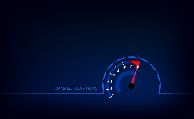 Speed motion background with fast speedometer background.