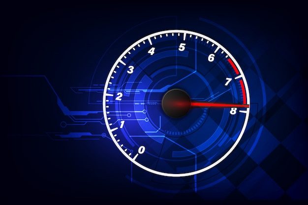 Speed motion background with fast speedometer car. racing velocity