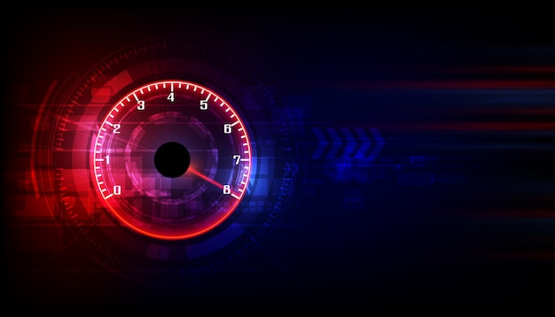 Speed motion background with speedometer