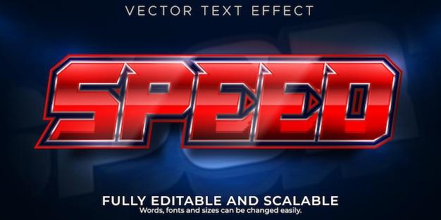 Текстовый эффект скоростной гонки, редактируемый быстрый и спортивный стиль текста