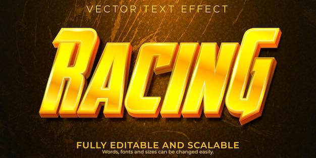 Speed race text effect editable fast and sport text style