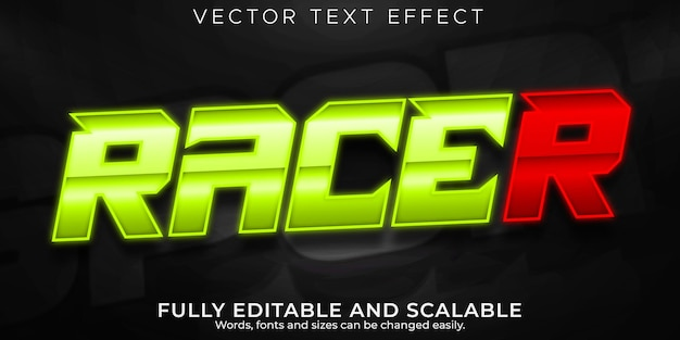 Speed race text effect, editable fast and sport text style