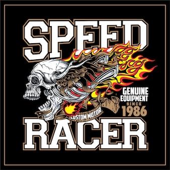 Плакат скоростного гонщика