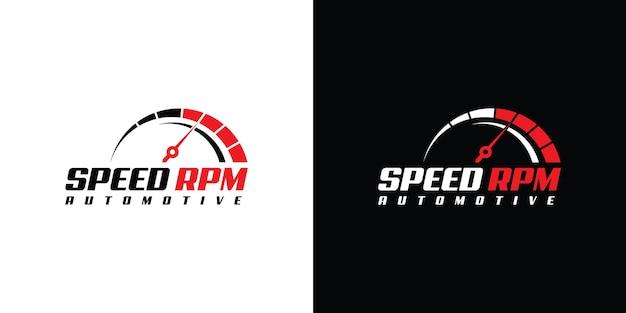 Дизайн логотипа speed rpm для шаблона автомобильной компании