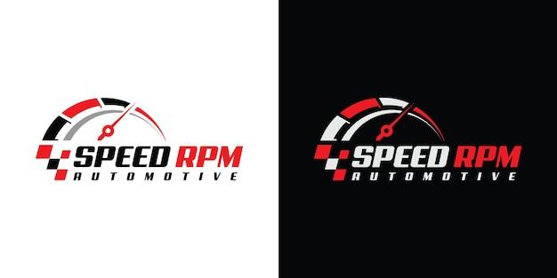 自動車会社のためのスピードrpmロゴデザイン