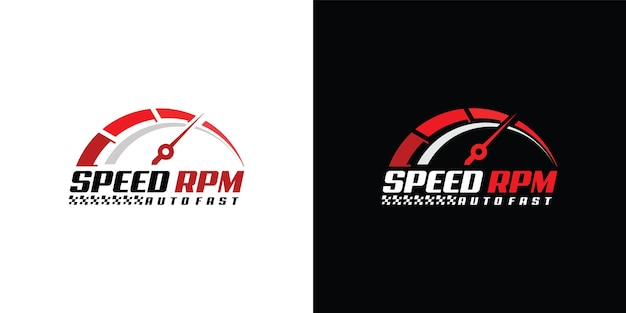 자동차 용 speed rpm 로고 디자인