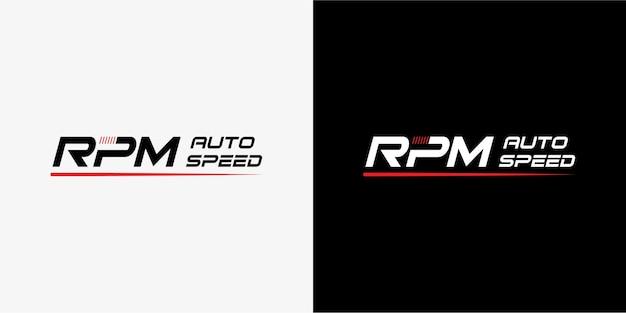 Дизайн логотипа speed rpm для автомобильной промышленности