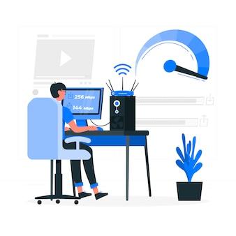 Speed test concept illustration