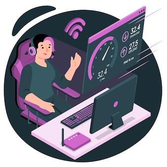 Иллюстрация концепции теста скорости