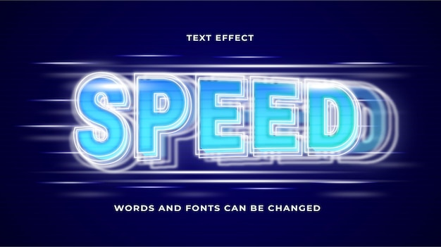 Speed text effect editable eps cc