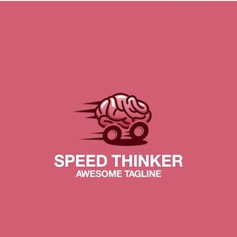 Speed thinker logo design удивительное вдохновение вдохновения