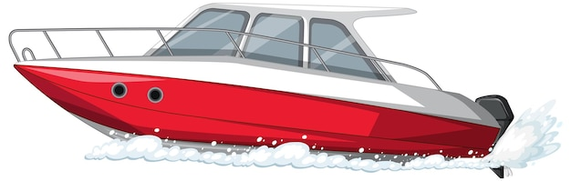 Speedboat or motorboat isolated on white background