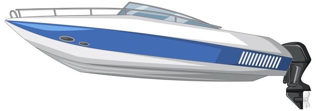 스피드 보트 또는 모터 보트 흰색 배경에 고립