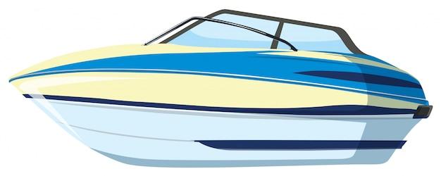 A speedboat on whitebackground