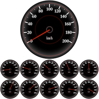 Speedometer, car dashboard, high speed, sport car speedometer