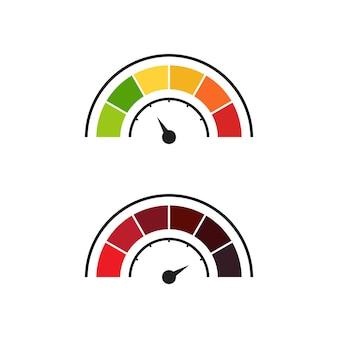 자동 로고 벡터 일러스트 아이콘 디자인을 위한 속도계 아이콘