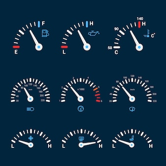 Speedometer interface icons