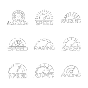 Speedometer level panel logo set