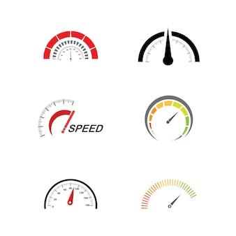 속도계 벡터 일러스트 아이콘 디자인