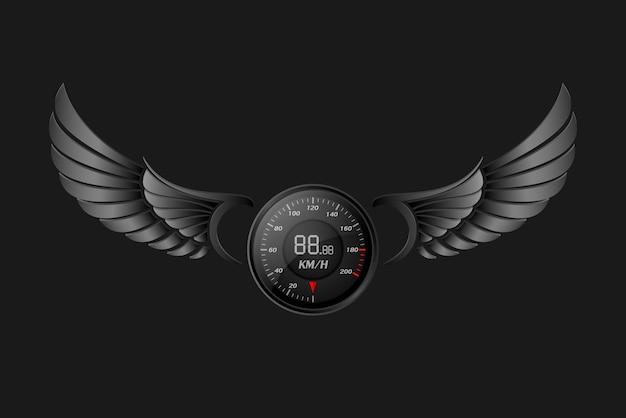 Спидометр с крыльями