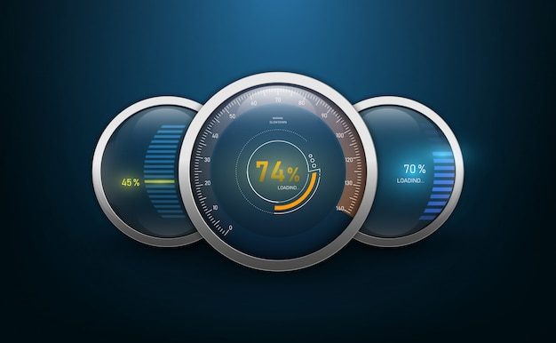 Speedometers for dashboard.