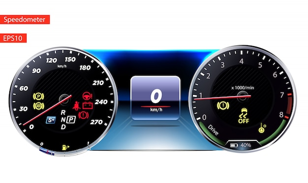 Speedometers. round black gauge with and without chrome frame.