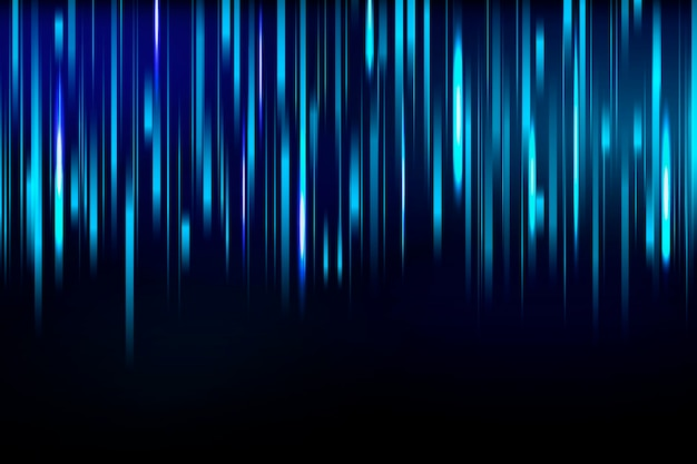 青い光のスピーディな流れ