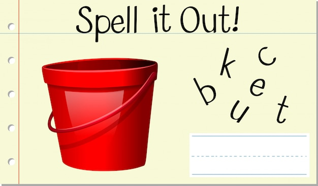 Spell english word bucket