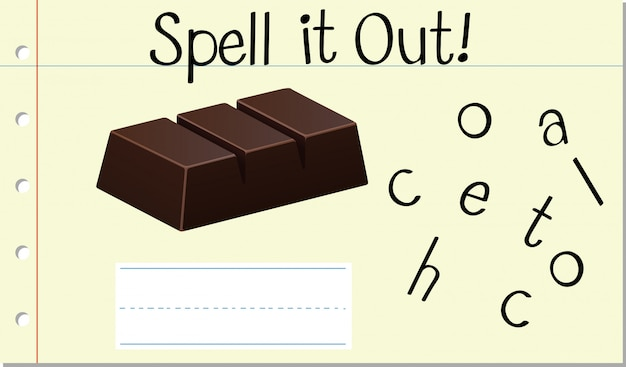 Spell english word chocolate
