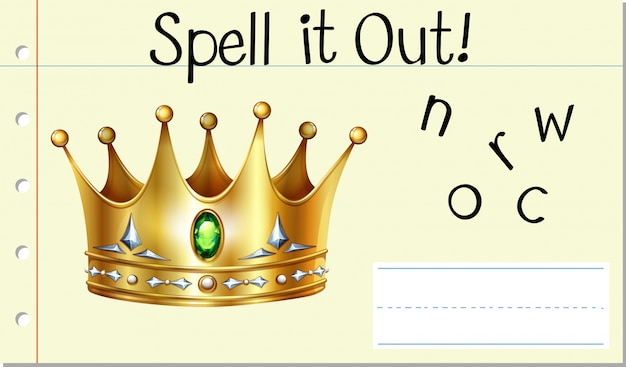 Spell english word crown
