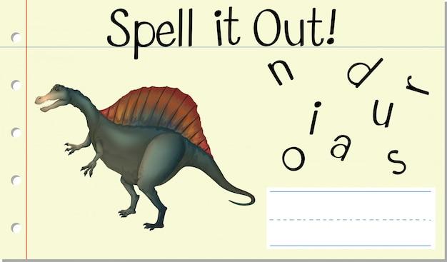 Spell english word dinosaur