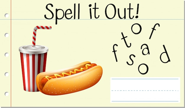 Spell english word fastfood