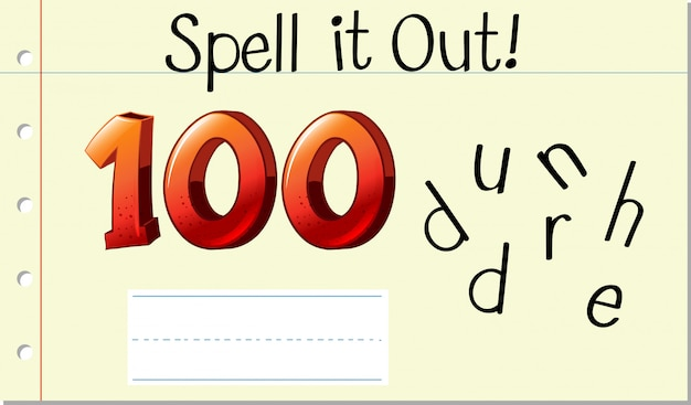 Spell english word hundred