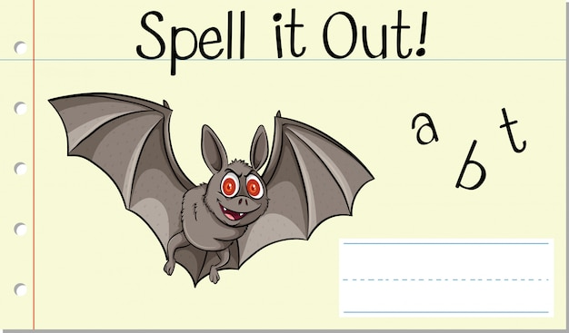 Spell it out bat