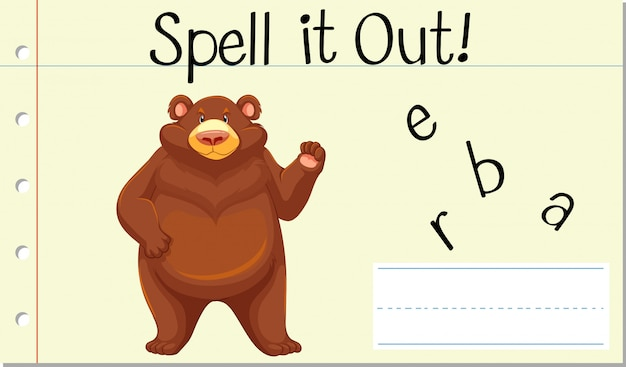 Spell it out bear