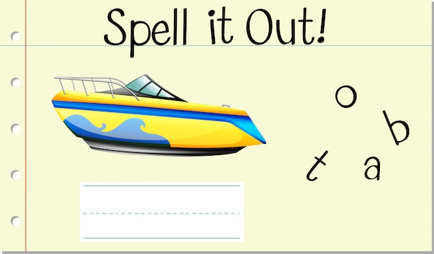 Spell it out boat