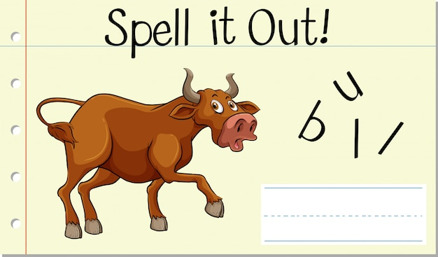 Spell it out bull