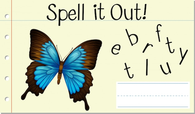 Spell it out butterfly