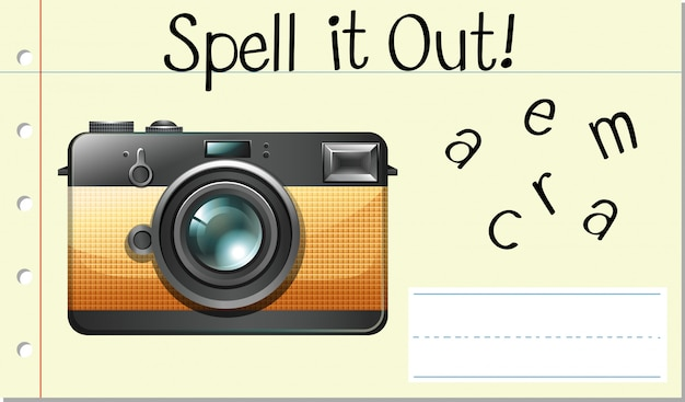 Spell it out camera
