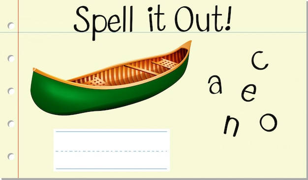 Spell it out canoe