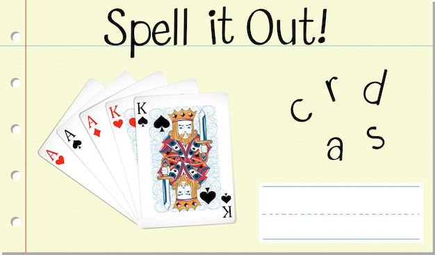 Spell it out cards