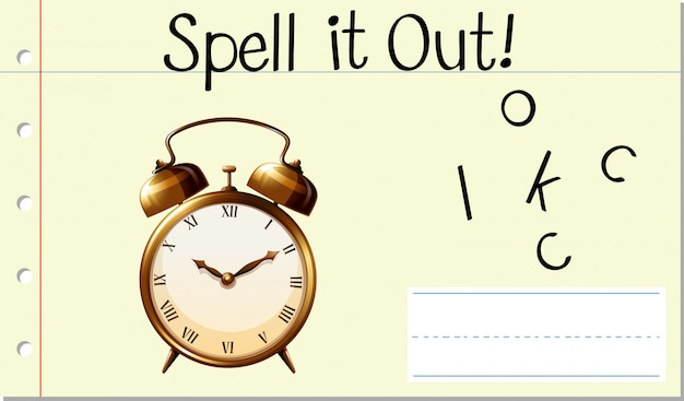 Spell it out clock