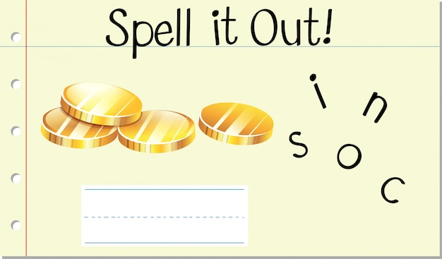 Spell it out coins